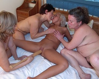 She young boy playing with grannys slut domme
